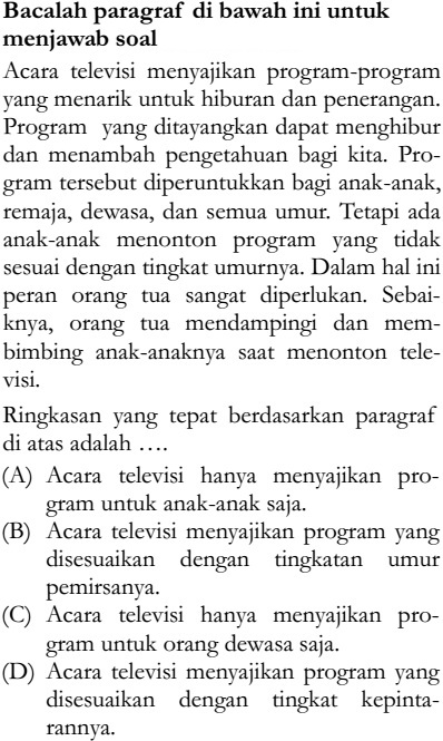 Soal Un Sd 2015 Bahasa Indonesia Zenius Net