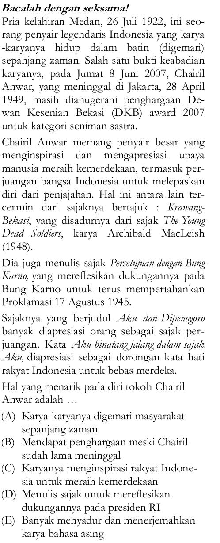 Soal Un Sma 2012 Bahasa Indonesia B29 Zenius Net