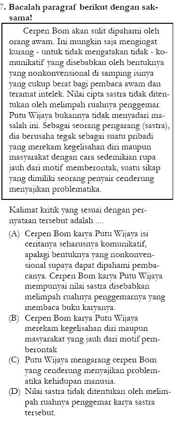 Soal Un Sma 2011 Bahasa Indonesia Zenius Net