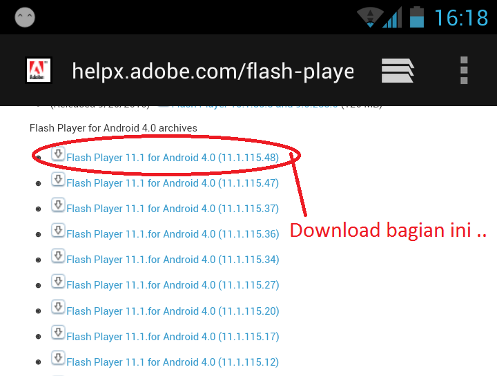 download adobe flash zenius