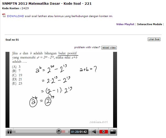Video Pembahasan Interactive Module