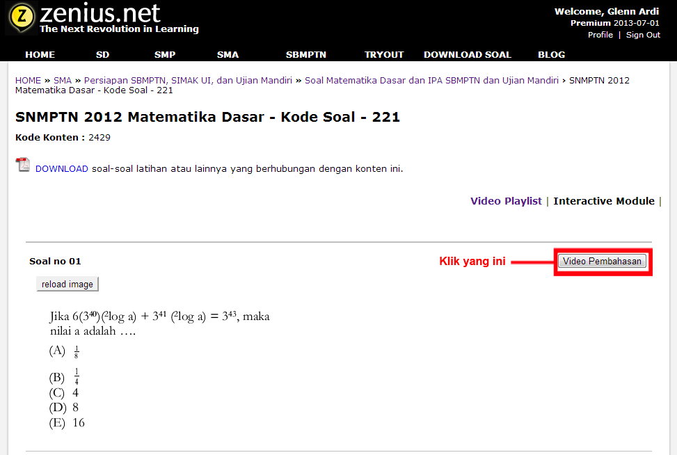interactive module