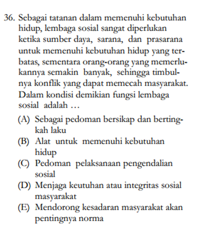 Soal sosiologi 1