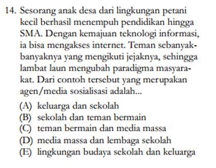 Soal sosiologi 2