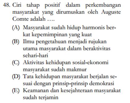Soal sosiologi 3