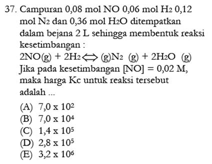 Contoh Soal Kimia 10