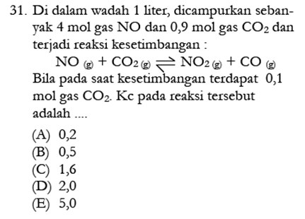 Contoh Soal Kimia 11