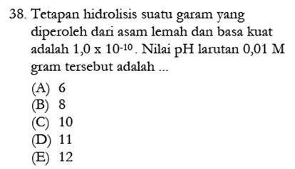 Contoh Soal Kimia 12