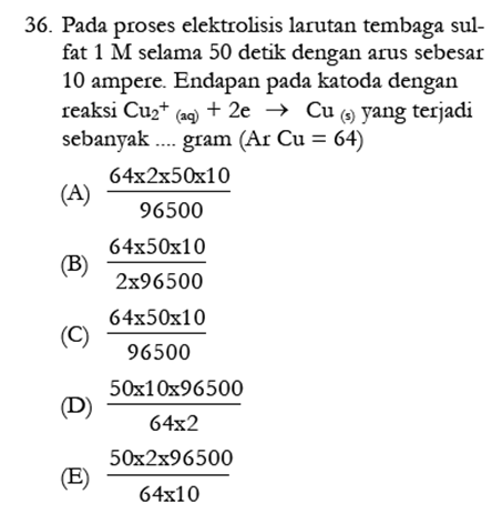 Contoh Soal Kimia 2