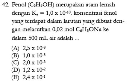 Contoh Soal Kimia 23