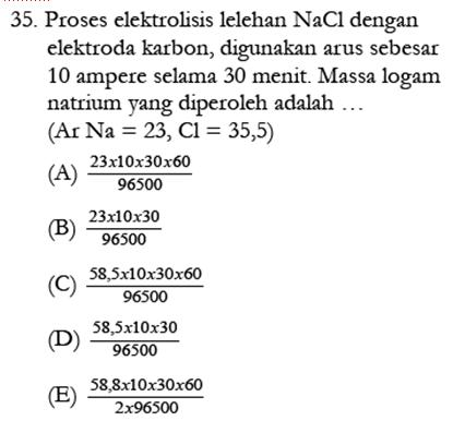 Contoh Soal Kimia 3