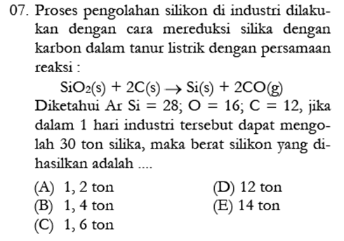 Contoh Soal Kimia 5