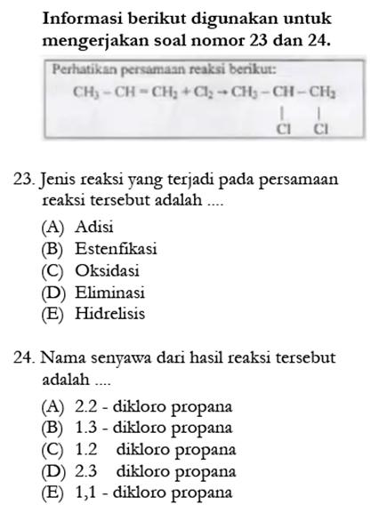 Contoh Soal Kimia 9