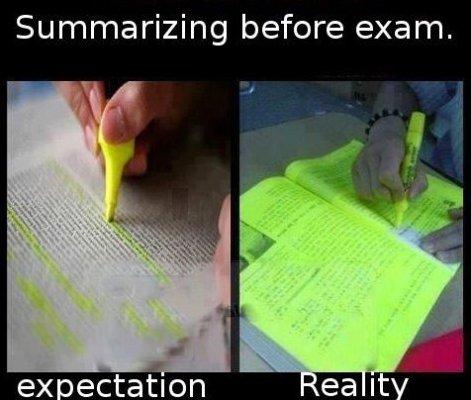 Summarizing-before-an-exam