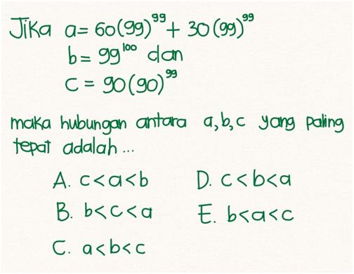 TPA aritmetika soal nomor 4