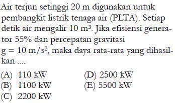 soal energi PLTA