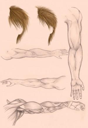 tangan dan rambut