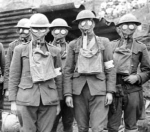 Masker gas, seragam wajib untuk pertempuran gas PD I