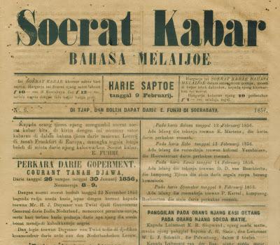 z 14 Jan.09 Soerat Kabar Bahasa Melaijoe th.1856 06 res.150