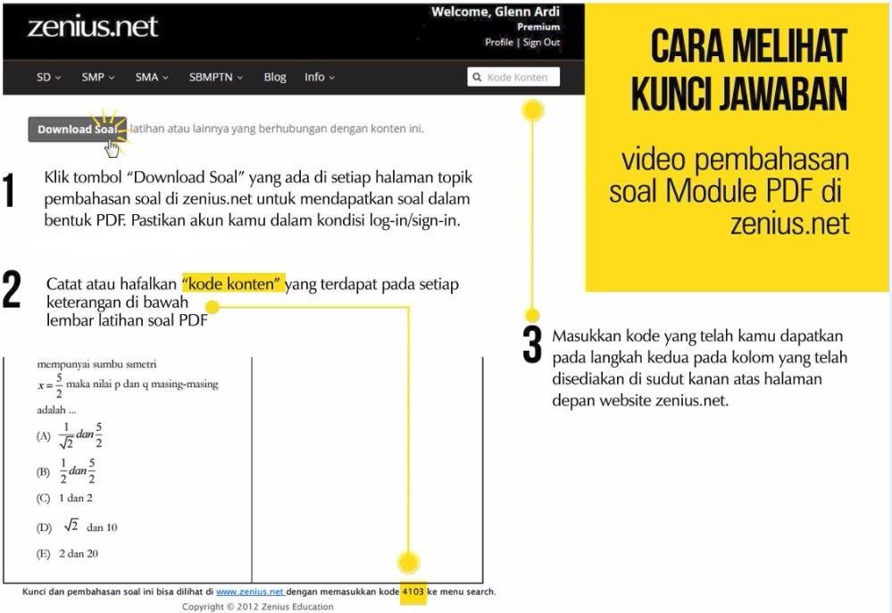 cara download soal zenius