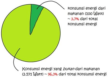 energi dari makanan vs non-makanan