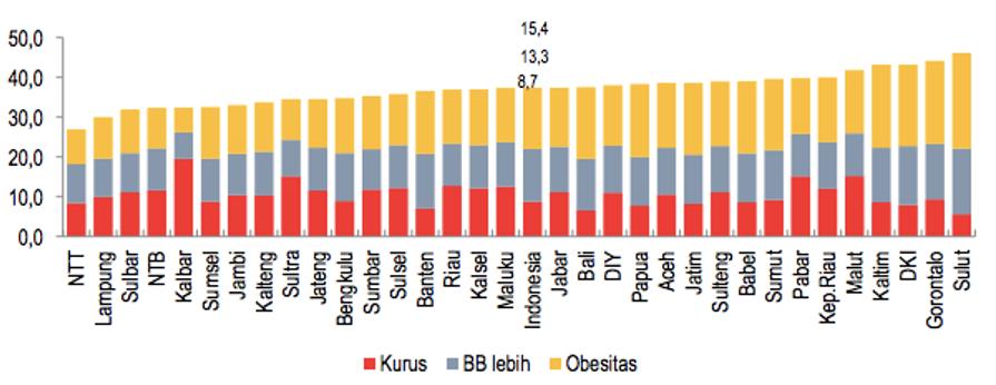 Laporan Gizi di Awal Tahun 2014 : Kurus vs Obesitas