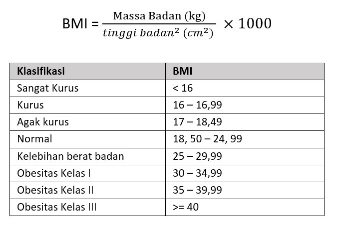 Kalkulator BMI Online – Cara Menghitung Body Mass Index