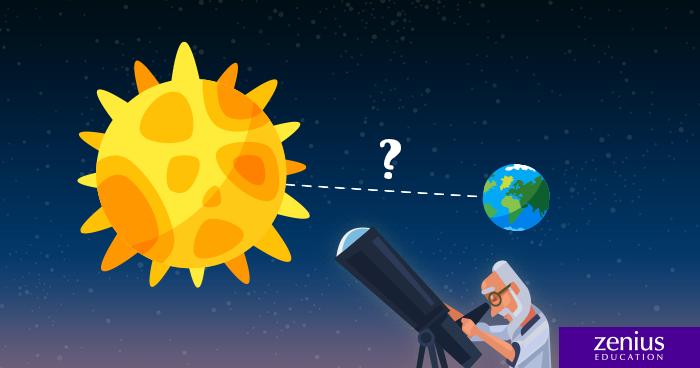 Gimana caranya mengukur jarak matahari dari bumi zenius