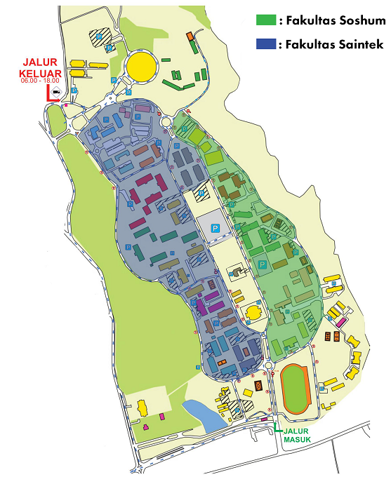 Peta Kampus Unpad Wilayah Jatinangor