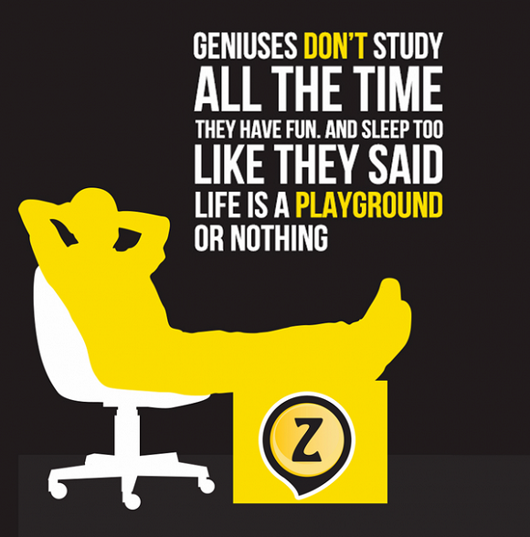5 - Geniuses Dont Study All The Time, They Have Fun Too