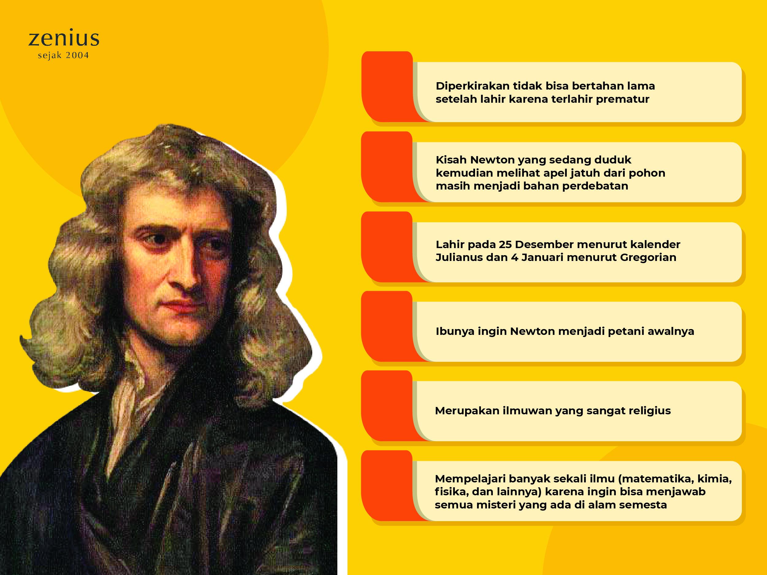 Newton Penemu Teori Gravitasi Hukum Newton 1 2 3 Zenius Nb19