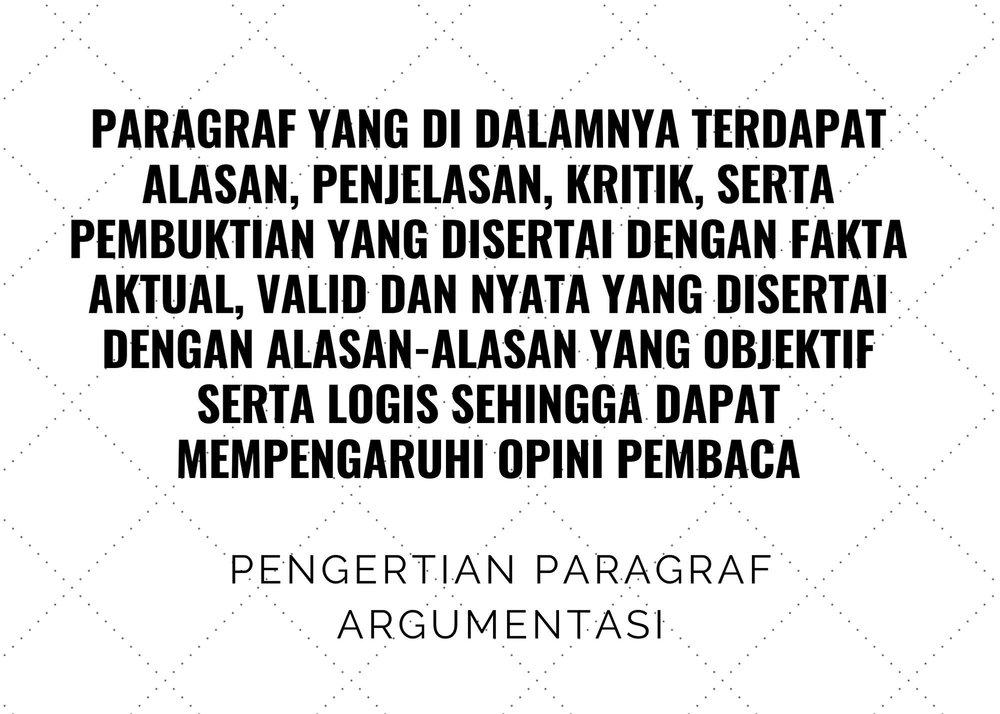 Paragraf Argumentasi : Paragraf Untuk Sampaikan Argumenmu