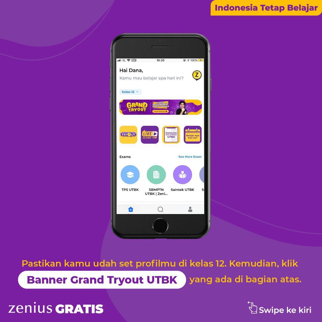 Zenius Grand Tryout UTBK: Tryoutnya Gratis, Hadiahnya Beasiswa dan Asuransi Milyaran Rupiah 34