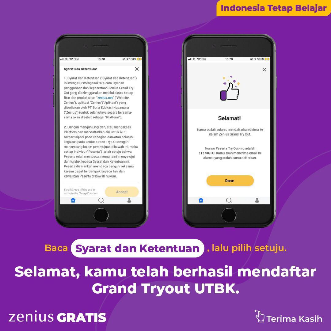 Zenius Grand Tryout UTBK: Tryoutnya Gratis, Hadiahnya Beasiswa dan Asuransi Milyaran Rupiah 36