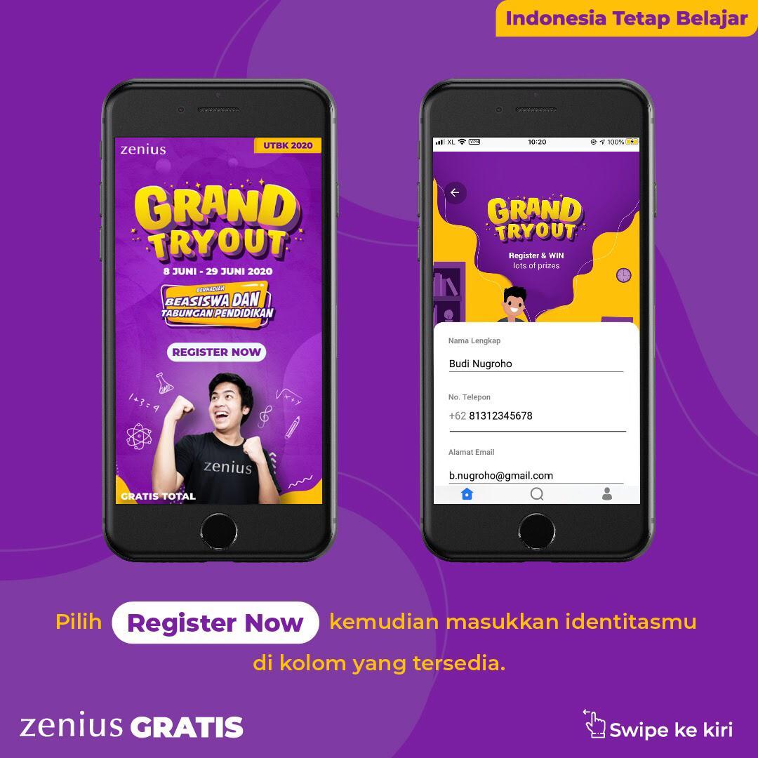 Zenius Grand Tryout UTBK: Tryoutnya Gratis, Hadiahnya Beasiswa dan Asuransi Milyaran Rupiah 35
