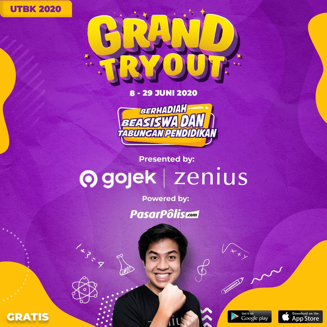 Zenius Grand Tryout UTBK: Tryoutnya Gratis, Hadiahnya Beasiswa dan Asuransi Milyaran Rupiah