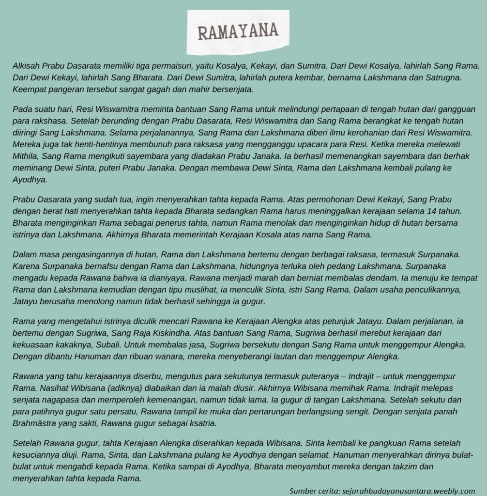 Contoh Epos India Ramayana