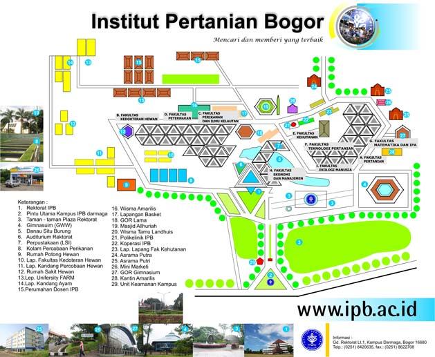 Denah kampus Institut Pertanian Bogor (IPB)