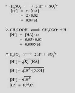 contoh soal dan pembahasan larutan asam