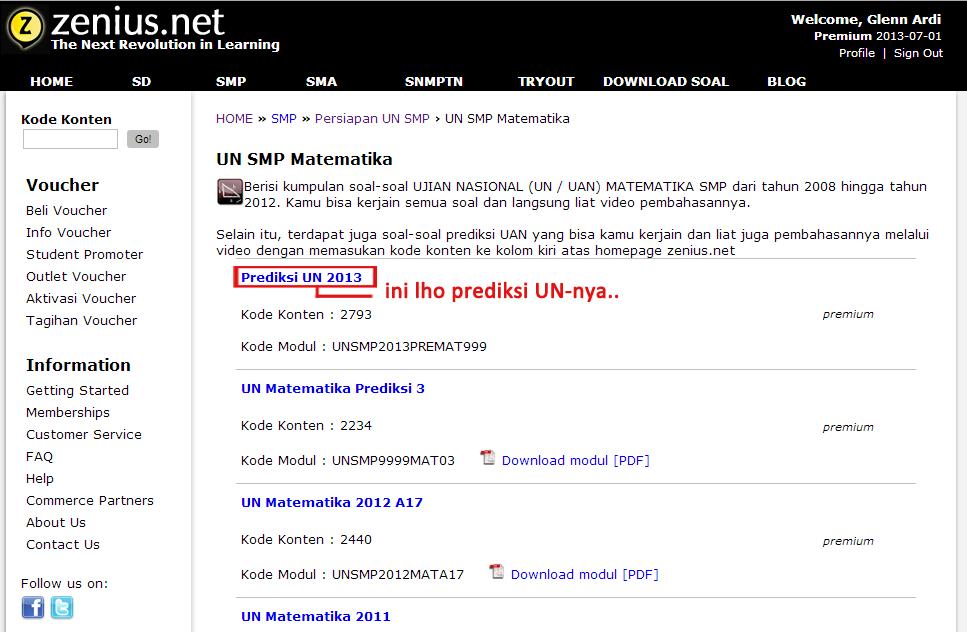 Prediksi UN 2013 sesuai SKL (SD, SMP, SMA)